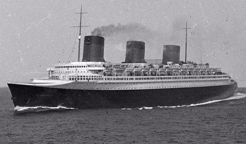 SS Normandie at sea 01