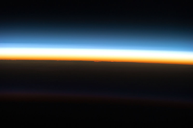 File:STS-133 Layers of atmosphere as the sun rises.jpg