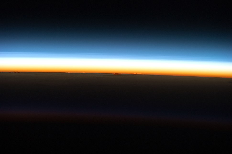 STS-133 Layers of atmosphere as the sun rises