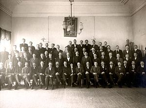 Central Organisation of the Workers of Sweden - SAC workers conference, held in Örebro November 25-November 26, 1917. The conference decided to plan mass action for 8-hour working day in the spring of 1918.