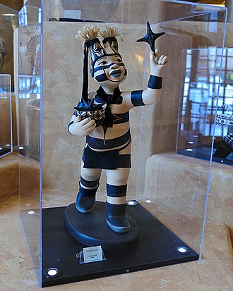 Pueblo clown - Ceramic sacred clown from New Mexico