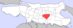 Location of Sagrado Corazón within the ضلع of Santurce
