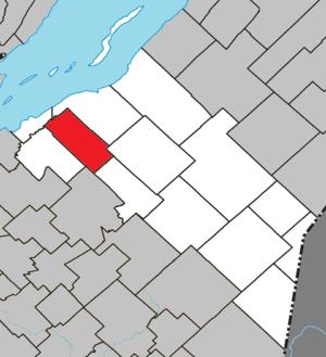 Saint-Pierre-de-la-Rivière-du-Sud, Quebec - Image: Saint Pierre de la Rivière du Sud Quebec location diagram