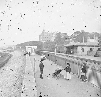 Monkstown, County Dublin - Salthill and Monkstown railway station originally built by the Dublin and Kingstown Railway.
