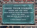 Samuel Taylor Coleridge English poet and critic lived in Highgate Village for nineteen years and in this house from 1823 until his death in 1834.jpg