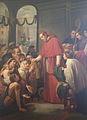 San Carlos Borromeo Repartiendo Limosna al Pueblo by Jose Salome Pina - 1853.jpg