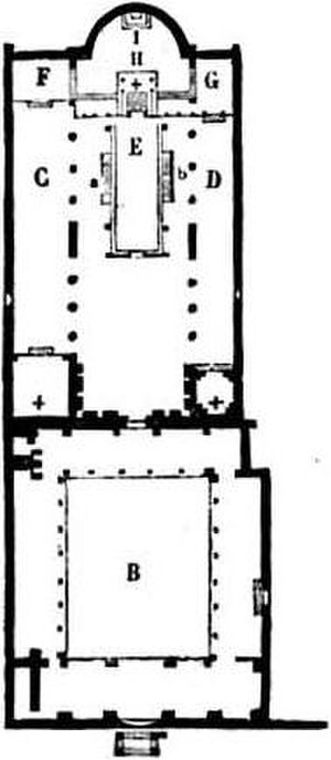 Basilica of San Clemente al Laterano - Plan of the church