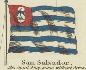 San Salvador - San Salvador 1868 Flag