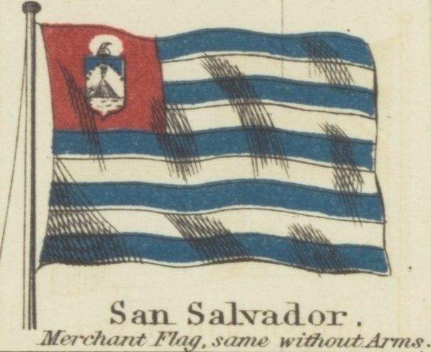 San Salvador. Johnson's new chart of national emblems, 1868