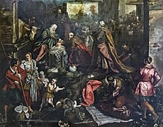San Trovaso (Venice) - Adoration of the Magi (1587) by D. Tintoretto.jpg