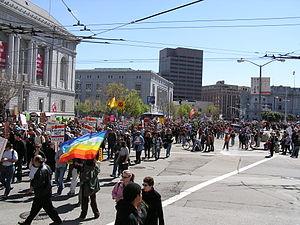 San francisco war protest march