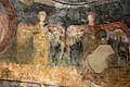 San lorenzo in insula, cripta di epifanio, affreschi di scuola benedettina, 824-842 ca., madonna in trono bendicente e sei angeli con scettro e globo 10.jpg