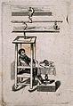 Sanctorius Sanctorius. Line engraving by (V. M.). Wellcome V0005201.jpg