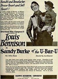 Sandy Burke of the U-Bar-U