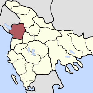Sanjak of Scutari - The sanjak highlighted, late 19th century.