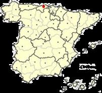 Location of Santander in Spain.