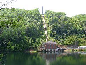 Santeetlah Dam - Santeetlah powerhouse on the Cheoah Reservoir