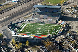 Saskatchewan, Regina, Mosaic Stadium, Home of the Roughriders (1581827181).jpg