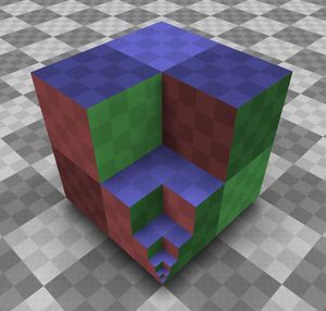 Cube 2: Sauerbraten - An example of a primitive cube subdivision