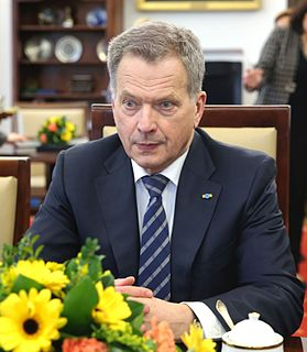 Sauli Niinistö 12th president of Finland