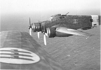 East African Campaign (World War II) - Image: Savoia Marchetti S.M.79 flight in formation