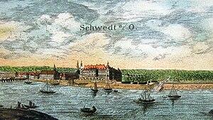 Brandenburg-Schwedt - Schwedt Castle in 1669