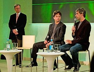 Eric Schmidt - Schmidt with Google founders