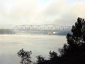 Sciotoville Bridge - View of Sciotoville Bridge in March 2007