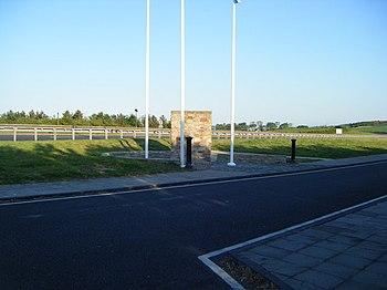 English: Scotland-England border on the A1