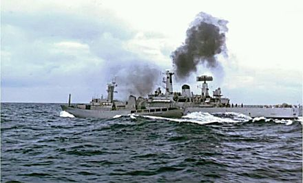 British and Icelandic vessels collide in the Atlantic Ocean during the Cod Wars - Iceland
