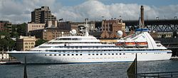 Seabourn Spirit in Sydney