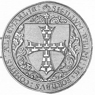 Kirkham Priory - Image: Seal 1 William De Forz 4th Earl Of Albemarle Died 1260