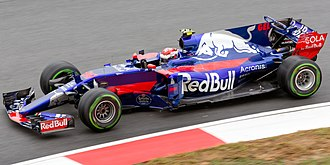Sean Gelael - Gelael driving a Toro Rosso during free practice for the 2017 Malaysian Grand Prix