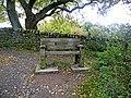 Seat at Walltown Quarry - geograph.org.uk - 1540597.jpg