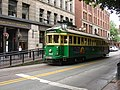 Seattle Waterfront Streetcar at Occidental Park.jpg