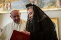 Sebastian Pinera's trip in Vatican - Franciscus with Cecilia Morel.png