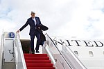 Secretary Kerry Disembarks From His Plan After Landing at Joint Andrews Base Following the World Economic Forum in Davos (32395201955).jpg