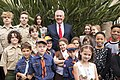 Secretary Tillerson Poses for a Photo With Girl Scouts and Boy Scouts of America (28447352139).jpg