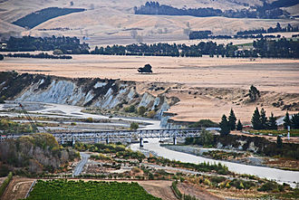 Main North Line, New Zealand - The Awatere River double-decker bridge, located near Seddon.  The upper deck carries the railway and the lower deck carried State Highway 1 until October 2007.