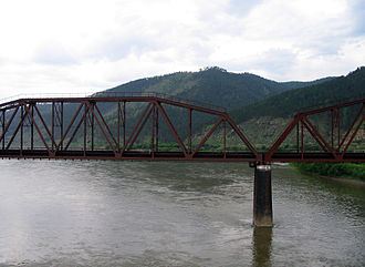 Selenga River - Image: Selenga River bridge
