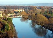 The River Severn is the primary waterway of the county.
