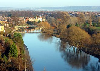 River Severn - The Severn at Shrewsbury from Shrewsbury Castle.