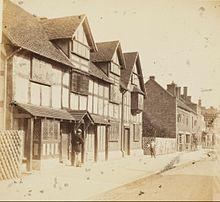 Shakespeares Birthplace Henley Street Stratford On Avon Ernest Edwards 1863 From Jephson J E 1864 Shakespere His Home