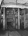 Shenandoah, Pennsylvania. Elevator car, bottom of shaft 700 ft below Maple Hill mine, 1938 by Sheldon Dick.jpg