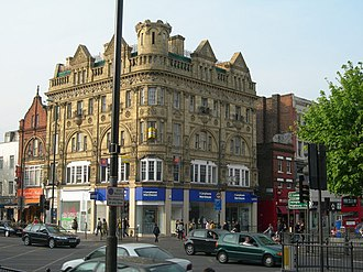 Holloway, London - Image: Shops on the Corner of Hollway Road and Seven Sisters Road geograph.org.uk 408666