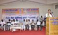 Shri M. Krishanassamy, Member of Parliament addressing the gathering at the Bharat Nirman Public Information Campaign, at Gingee, Tamil Nadu. The Director, PIB, Chennai, Shri M.V.S. Prasad and the Dy. Director, S&D.jpg