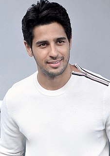 Sidharth Malhotra Indian actor and former model and assistant director