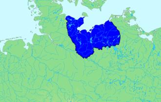 Obotrites - Image: Siedlungsgebiet Abodriten leer