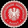Siegelmarke Österreichische Gesandtschaft - Rabat W0223727.jpg