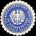Siegelmarke Bürgermeister - Amt Sohren zu Büchenbeuern - Kreis Zell W0226270.jpg